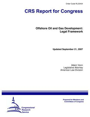 Primary view of object titled 'Offshore Oil and Gas Development: Legal Framework'.