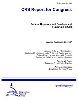 Primary view of object titled 'Federal Research and Development Funding: FY2008'.