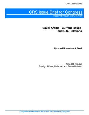 Primary view of object titled 'Saudi Arabia: Current Issues and U.S. Relations'.
