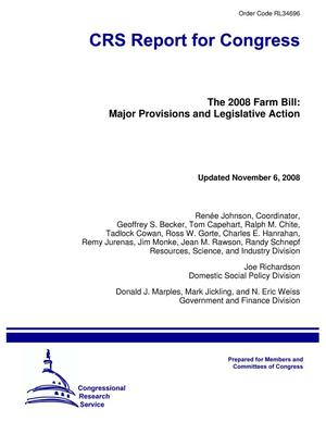 Primary view of object titled 'The 2008 Farm Bill: Major Provisions and Legislative Action'.