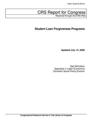 Primary view of object titled 'Student Loan Forgiveness Programs'.