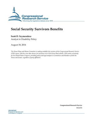 Primary view of object titled 'Social Security Survivors Benefits'.