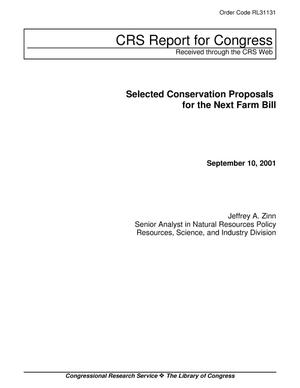 Primary view of object titled 'Selected Conservation Proposals for the Next Farm Bill'.