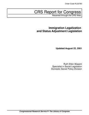 Primary view of object titled 'Immigration Legalization and Status Adjustment Legislation'.