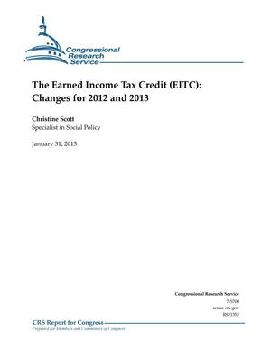 Primary view of object titled 'The Earned Income Tax Credit (EITC): Changes for 2012 and 2013'.