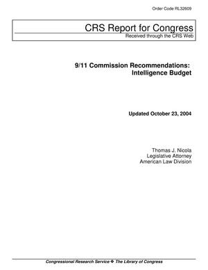 Primary view of object titled '9/11 Commission Recommendations: Intelligence Budget'.