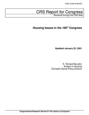 Primary view of object titled 'Housing Issues in the 106th Congress'.