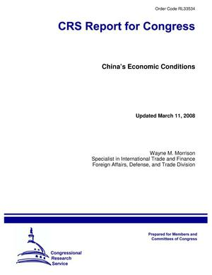 Primary view of object titled 'China's Economic Conditions'.