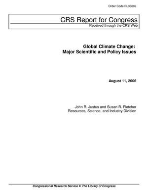 Primary view of object titled 'Global Climate Change: Major Scientific and Policy Issues'.