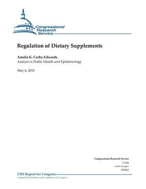 Primary view of object titled 'Regulation of Dietary Supplements'.