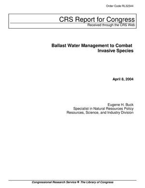 Primary view of object titled 'Ballast Water Management to Combat Invasive Species'.