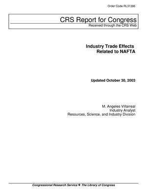 Primary view of object titled 'Industry Trade Effects Related to NAFTA'.