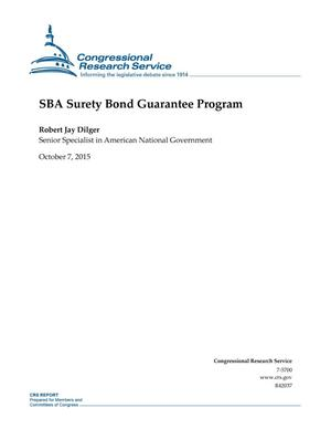 Primary view of object titled 'SBA Surety Bond Guarantee Program'.