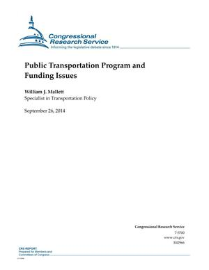 Primary view of object titled 'Public Transportation Program and Funding Issues'.