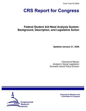 Primary view of object titled 'Federal Student Aid Need Analysis System: Background, Description, and Legislative Action'.