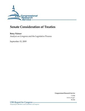 Primary view of object titled 'Senate Consideration of Treaties'.