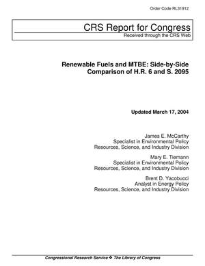 Primary view of object titled 'Renewable Fuels and MTBE: Side-by-Side Comparison of H.R. 6 and S. 2095'.