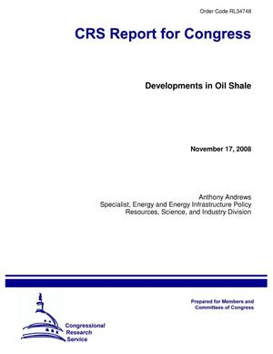 Primary view of object titled 'Developments in Oil Shale'.