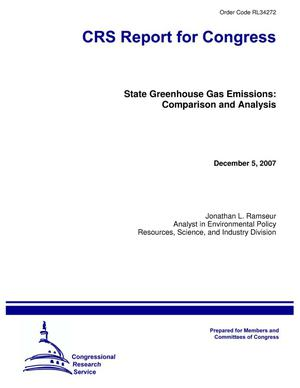 Primary view of object titled 'State Greenhouse Gas Emissions: Comparison and Analysis'.