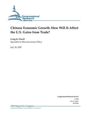 Primary view of object titled 'Chinese Economic Growth: How Will It Affect the U.S. Gains from Trade?'.