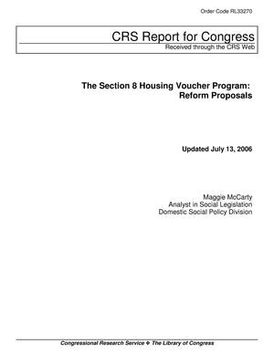 Primary view of object titled 'The Section 8 Housing Voucher Program: Reform Proposals'.