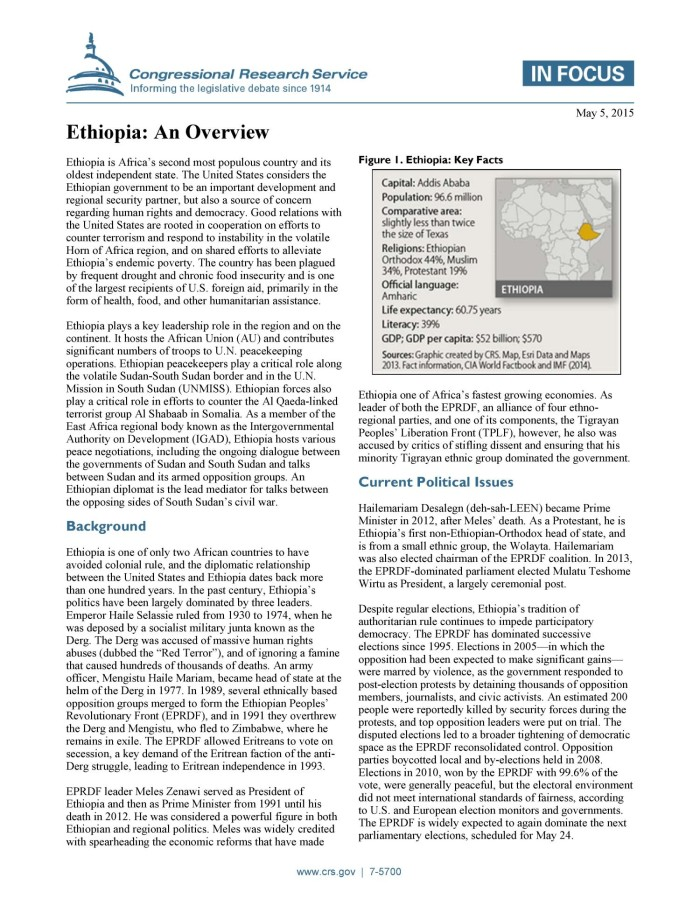 Ethiopia: An Overview - Digital Library