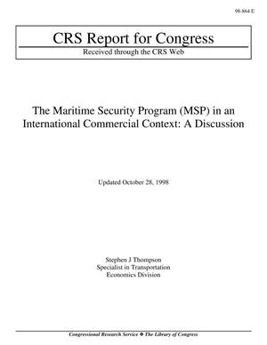 Primary view of object titled 'The Maritime Security Program (MSP) in an International Commercial Context: A Discussion'.