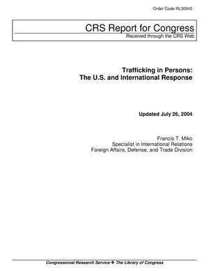 Primary view of object titled 'Trafficking in Persons: The U.S. and International Response'.