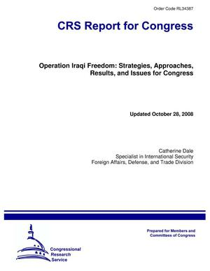 Primary view of object titled 'Operation Iraqi Freedom: Strategies, Approaches, Results, and Issues for Congress'.