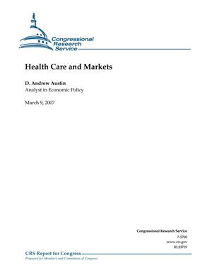 Primary view of object titled 'Health Care and Markets'.