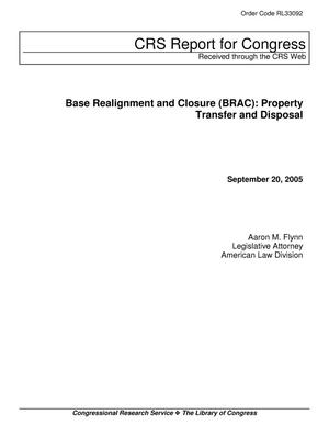 Primary view of object titled 'Base Realignment and Closure (BRAC): Property Transfer and Disposal'.