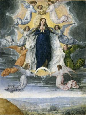 Primary view of object titled 'Assumption of the Virgin'.