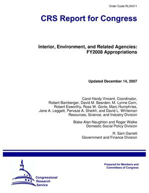 Primary view of object titled 'Interior, Environment, and Related Agencies: FY2008 Appropriations'.