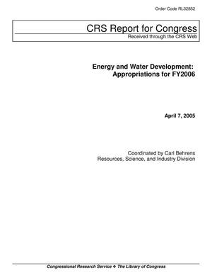 Primary view of object titled 'Energy and Water Development: Appropriations for FY2006'.