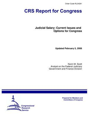 Primary view of object titled 'Judicial Salary: Current Issues and Options for Congress'.