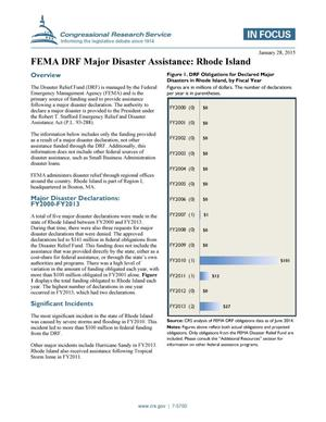 Primary view of object titled 'FEMA DRF Major Disaster Assistance: Rhode Island'.