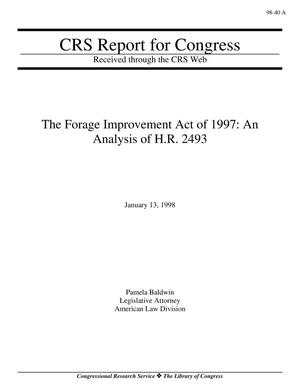 Primary view of object titled 'THE FORAGE IMPROVEMENT ACT OF 1997: AN ANALYSIS OF H.R. 2493'.