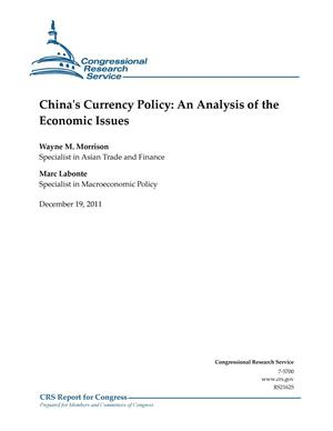 Primary view of object titled 'China's Currency Policy: An Analysis of the Economic Issues'.