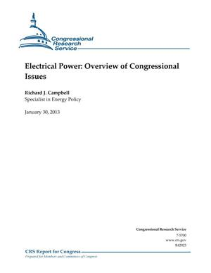 Primary view of object titled 'Electrical Power: Overview of Congressional Issues'.