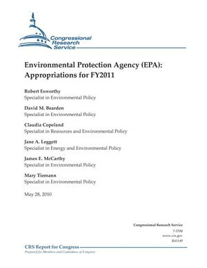Primary view of object titled 'Environmental Protection Agency (EPA): Appropriations for FY2011'.