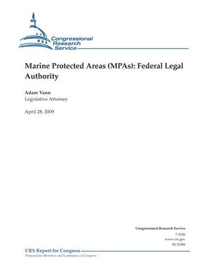 Primary view of object titled 'Marine Protected Areas (MPAs): Federal Legal Authority'.