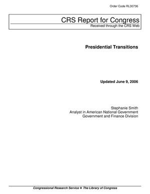 Primary view of object titled 'Presidential Transitions'.