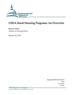 Primary view of object titled 'USDA Rural Housing Programs: An Overview'.