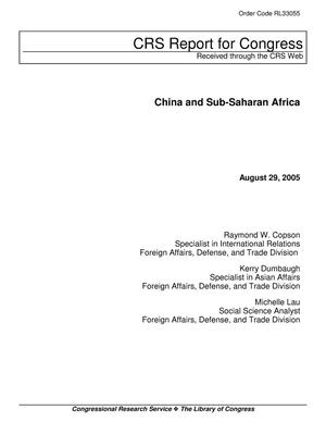 Primary view of object titled 'China and Sub-Saharan Africa'.