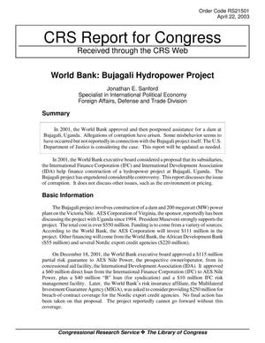 Primary view of object titled 'World Bank: Bujagali Hydropower Project'.