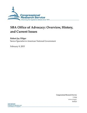 Primary view of object titled 'SBA Office of Advocacy: Overview, History, and Current Issues'.