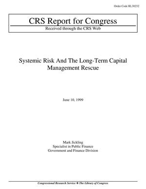 Primary view of object titled 'Systemic Risk And The Long-Term Capital Management Rescue'.