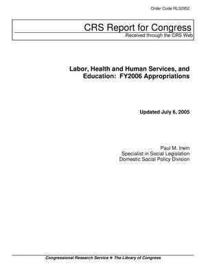 Primary view of object titled 'Labor, Health and Human Services, and Education: FY2006 Appropriations'.