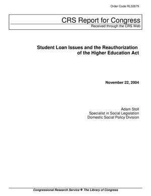 Primary view of object titled 'Student Loan Issues and the Reauthorization of the Higher Education Act'.