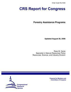 Primary view of object titled 'Forestry Assistance Programs'.